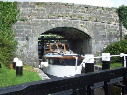 Vicki May at Belmont Lock on the Grand Canal