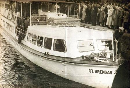 St Brendan arriving at Athlone from Killaloe 1950s from Clare Library Collection