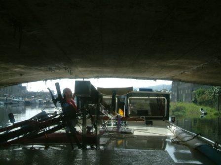 W27 Carrick on Suir Anchor going under Bridge.jpg