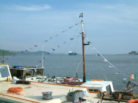 W29 Passage East some of the fleet rafted up in Estuary 002.jpg