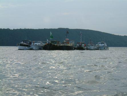 W29 Passage East some of the fleet rafted up in Estuary.jpg