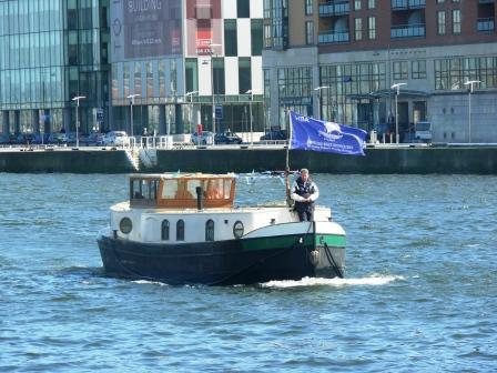 Gerry O'Hara on bow of Aqualegia