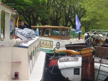 Boat Jam on Mespil Road at Dublin IWAI Rally