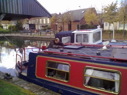 W02 Rigmarole and Magnet moored outside canal stores HF Oct 2010.jpg