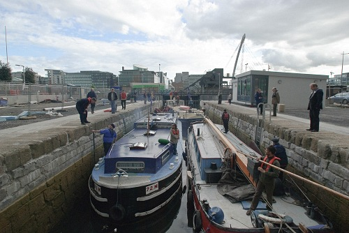 W02 Three Heritage Boats in Spencer Lock CN May 14 2010.jpg