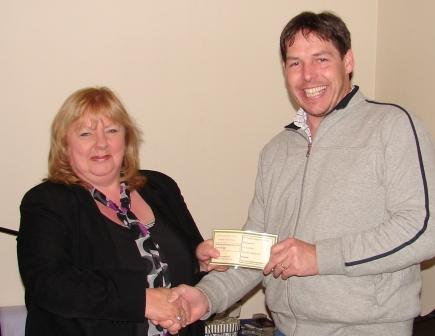 W 1028 1723 Pa Keogh presents voucher for Riversdale Barge Weekend to Lucy Fagan of Naas.jpg