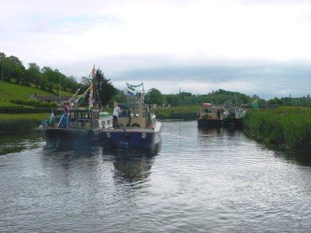 Approaching entrance to Ulster Canal