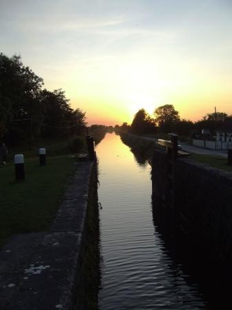 Alt - Looking west on the Grand Canal at sunset