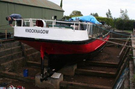 Richard putting the final touches to Knocknagow in Dry Dock Shannon Hbr 2007