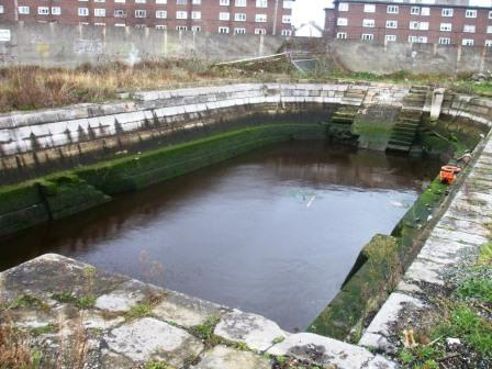 Small Graving Dock Jan 2009 looking towards the Dodder
