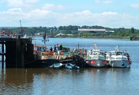 HBA Fleet moored at New Ross 2005 - Tide Out