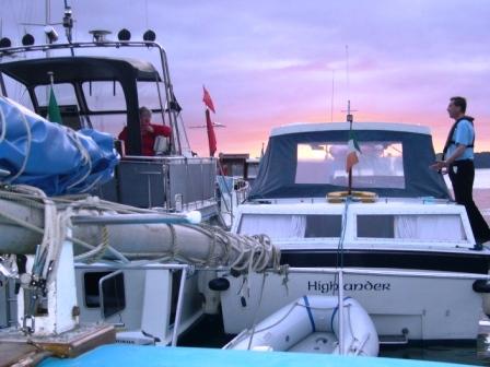 Reflections & Highlander moored in Foynes