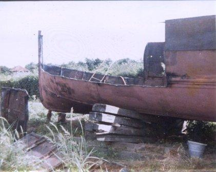 Stern of Horse Boat No 1 before regeneration