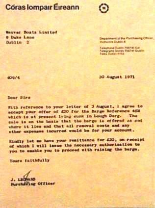 CIE Sale Agreement Aug 1971