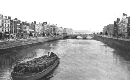 Guinness Barge Liffey 1910?