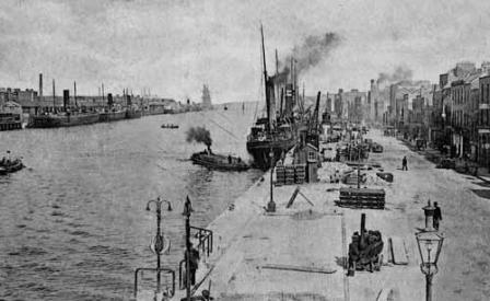Liffey looking east 1900s