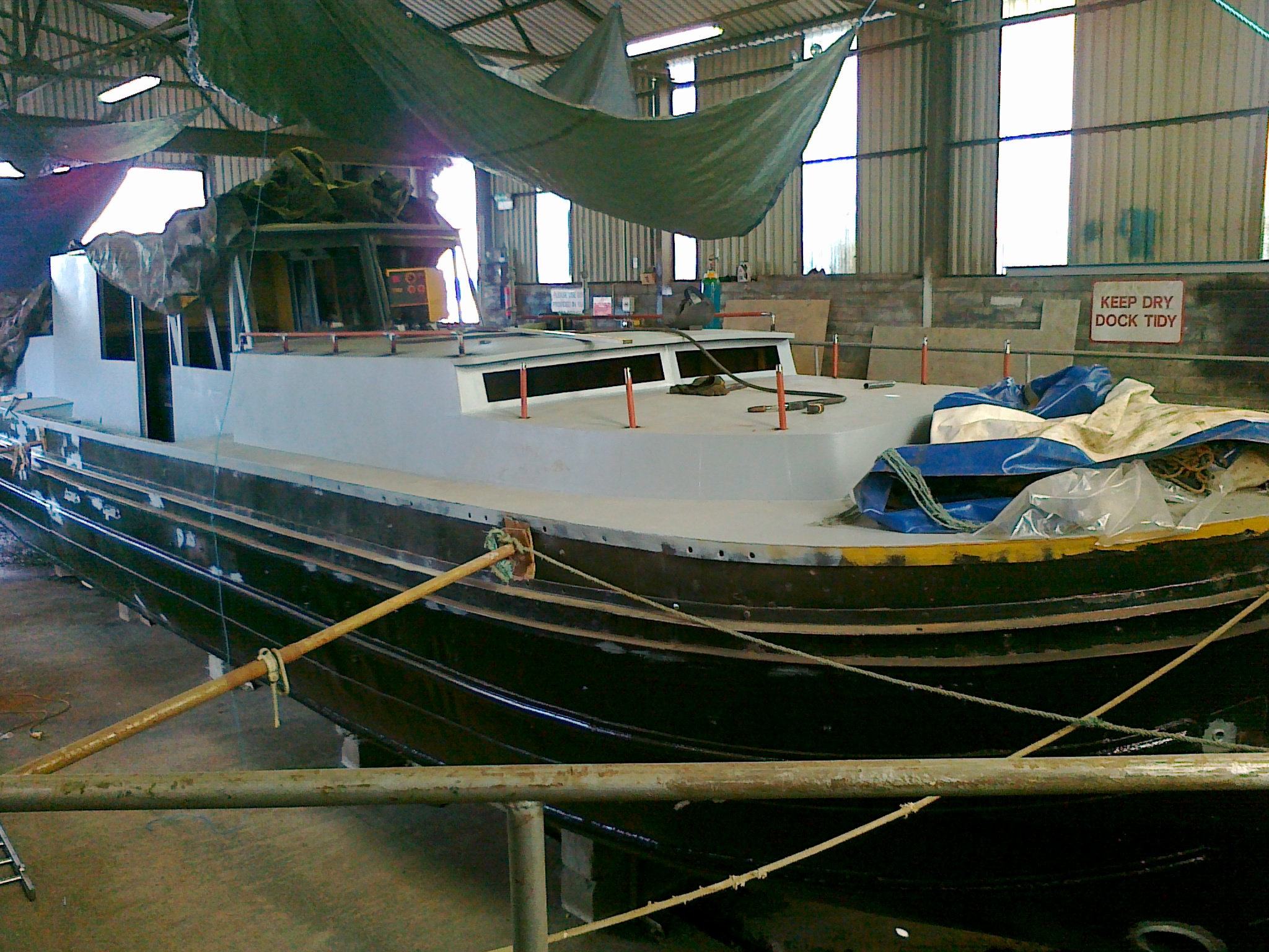 In the dry dock in Tullamore Sept 2010, geting all the bits done...